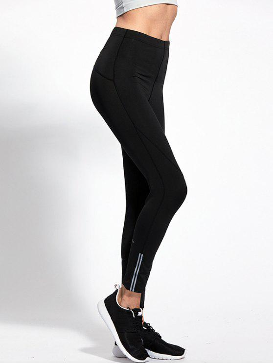 affordable High Waist Skinny Yoga Leggings - BLACK XL