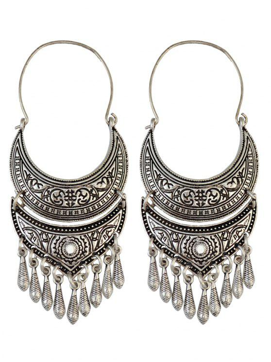 shops Crescent Tear Drop Earrings - SILVER