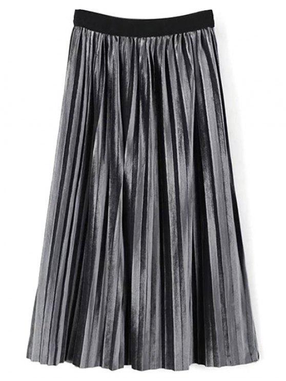 Mediodía de cintura alta falda plisada - Escarcha Única Talla