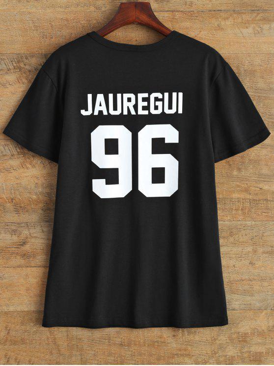 Cuello de la joya Jauregui 96 de la camiseta - Negro M