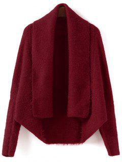 Convertible Batwing Sleeve Cardigan - Red