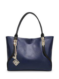 Chains Pendant Shoulder Bag - Blue