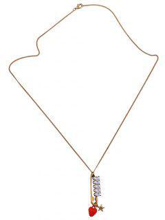 Rhinestone Fraise étoile Pull Chain - Or