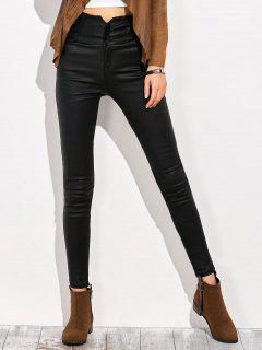 Skinny Criss Cross Pencil Pants - Black S