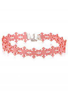 Snowflake Choker - Pink