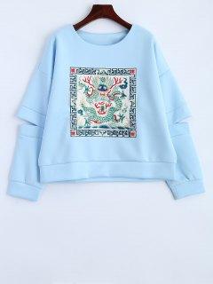 Sweatshirt De Split - Bleu Clair L