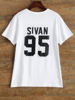 Jewel Neck Sivan 95 T-Shirt - White L
