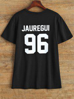 Jewel Neck Jauregui 96 T-Shirt - Black M