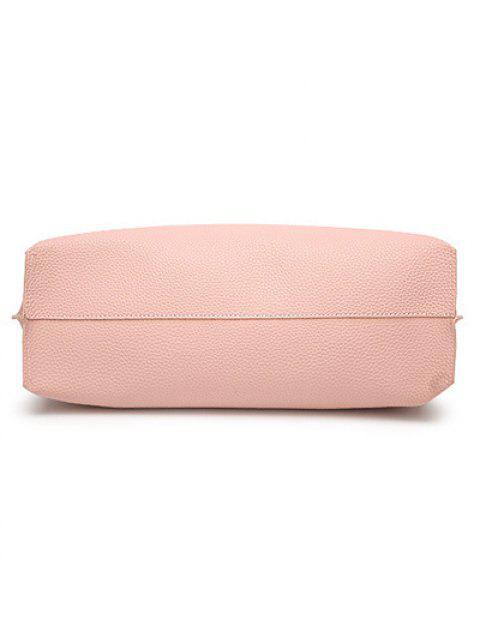 fashion Textured PU Leather Tassel Shoulder Bag - BLACK  Mobile