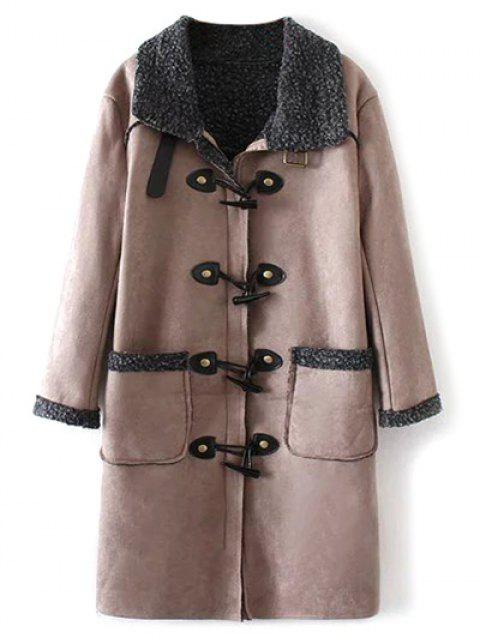 fancy Lamb Duffle Coat - NUDE PINK S Mobile