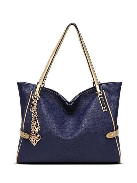 fancy Chains Pendant PU Leather Shoulder Bag -   Mobile
