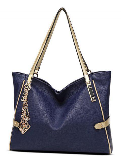 unique Chains Pendant PU Leather Shoulder Bag -   Mobile