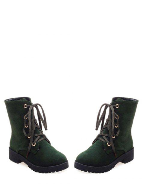 affordable Dark Color Tie Up Platform Ankle Boots -   Mobile