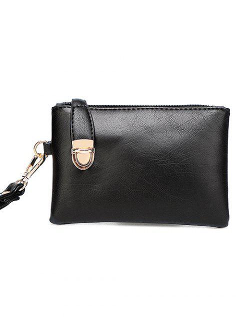 fancy Metal Chains PU Leather Handbag - YELLOW  Mobile