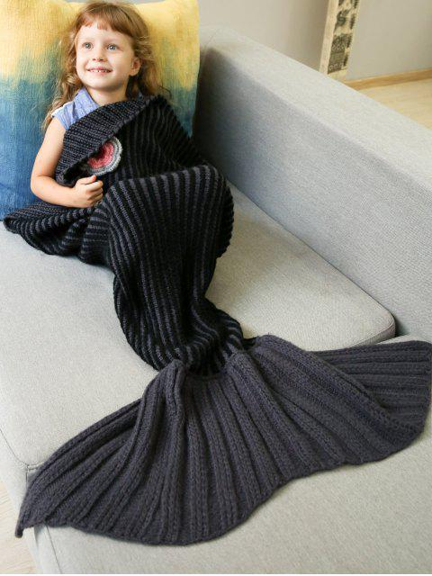 shop Knitted Stripe Bed Mermaid Blanket -   Mobile