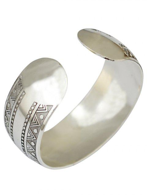 hot Ethnic Triangle Alloy Cuff Bracelet - SILVER  Mobile