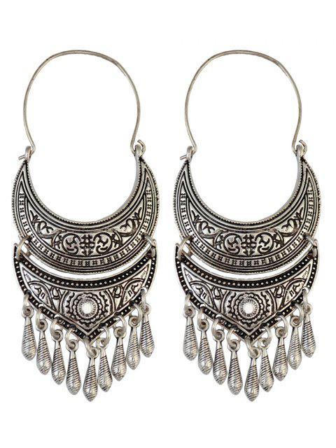 shops Crescent Tear Drop Earrings - SILVER  Mobile
