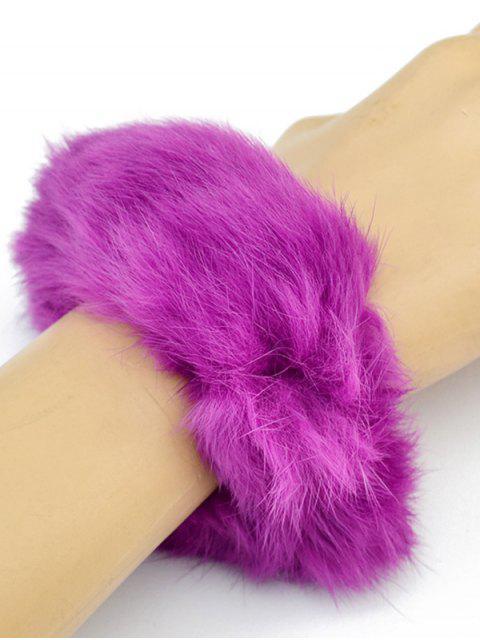 shop Furry Ball Elastic Bracelet - PURPLE  Mobile
