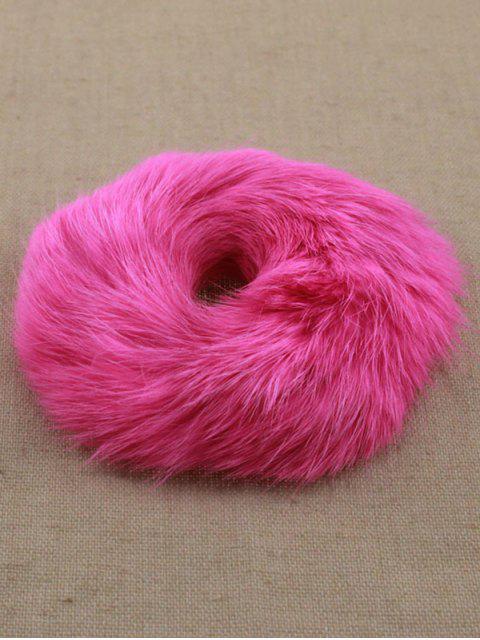 latest Furry Ball Elastic Bracelet - PINK  Mobile