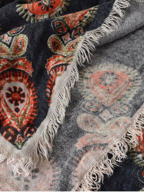 new Floral Pattern Fringe Square Scarf -   Mobile