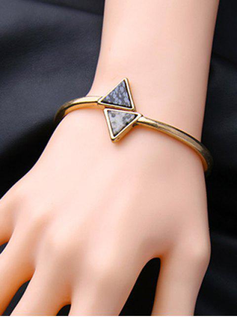 trendy Natural Stone Triangle Vintage Bracelet -   Mobile