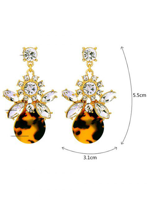 online Leopard Print Rhinestone Earrings - LEOPARD  Mobile