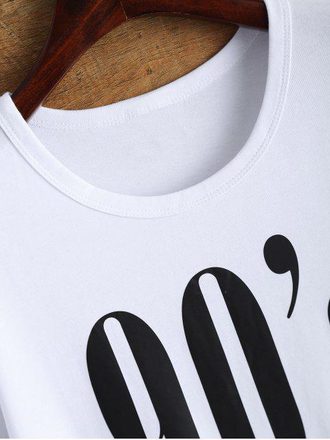 shop Jewel Neck 90's T-Shirt - WHITE L Mobile