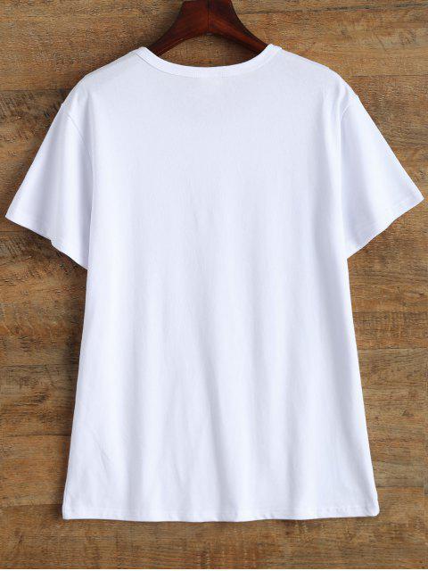 shops Jewel Neck 90's T-Shirt - WHITE M Mobile