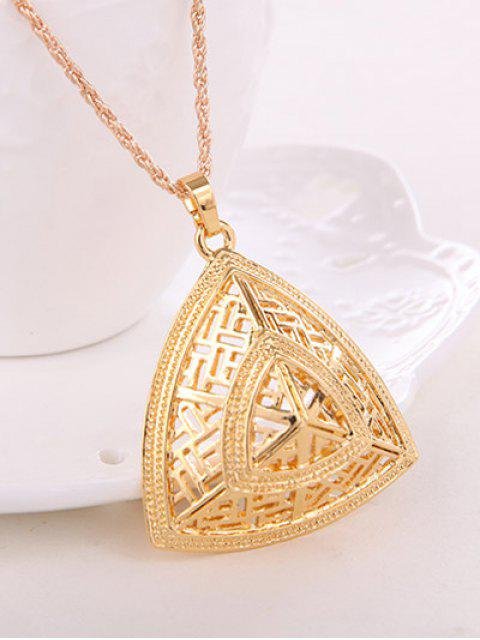 women's Hollow Out Triangle Jewelry Set -   Mobile