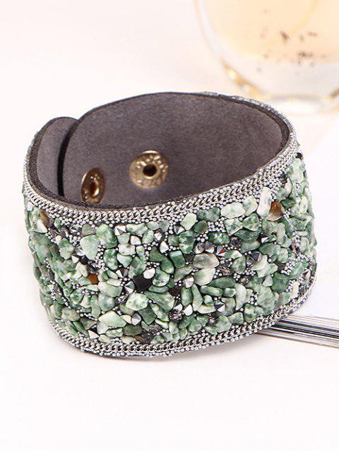 online Natural Stone Faux Leather Bracelet -   Mobile