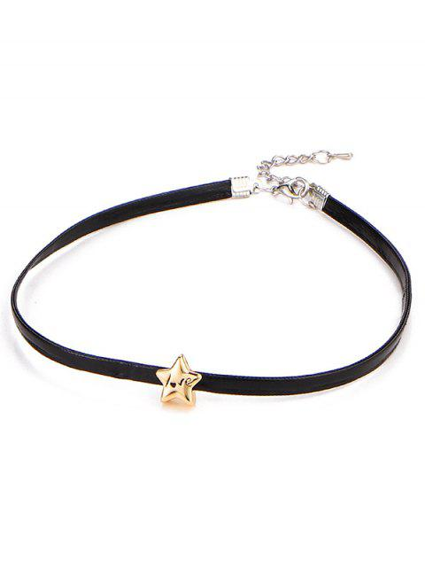 affordable Star Engraved Love Choker Necklace -   Mobile