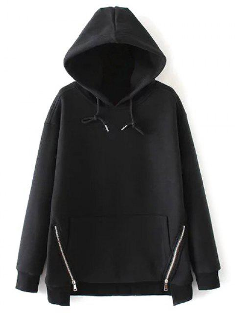 women String Zippered Hoodie - BLACK S Mobile