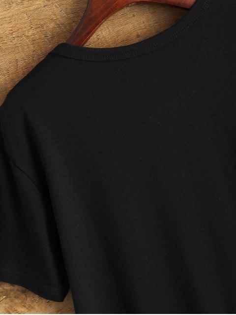fashion Jewel Neck The 1975 T-Shirt - BLACK S Mobile