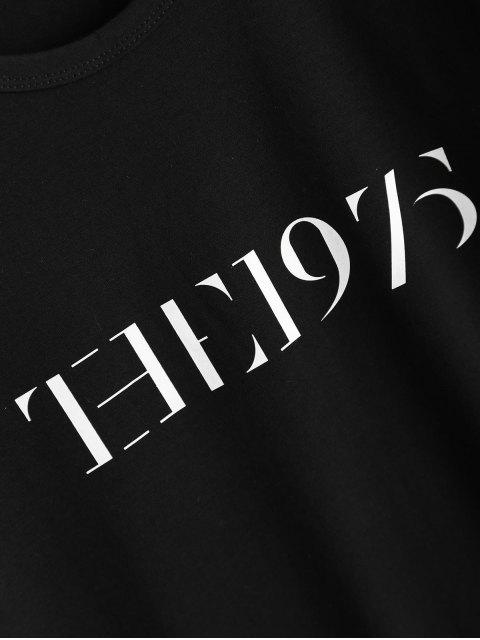 latest Jewel Neck The 1975 T-Shirt - BLACK L Mobile