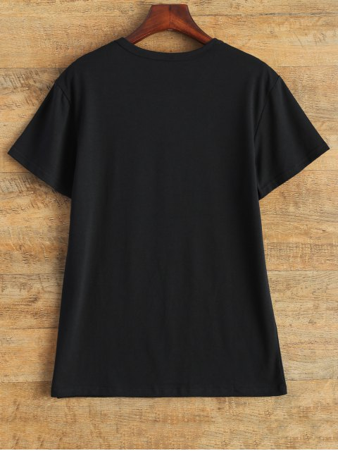 outfits Jewel Neck Pizza Is My Bae T-Shirt - BLACK M Mobile