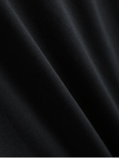 women Jewel Neck Alien T-Shirt - BLACK S Mobile