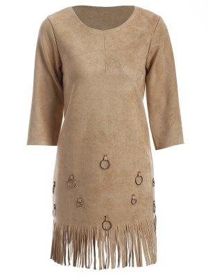 Glands A-Line Robe - Camel M