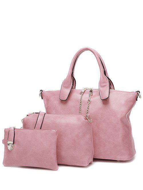 Metal Chains PU Leather Handbag 202351808
