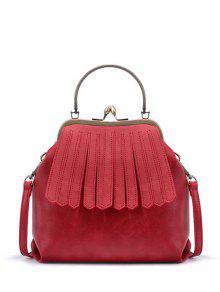 Buy Vintage Metal Trimmed Fringe Bag RED