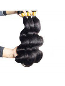 1 قطع الجسم موجة 7a العذراء البرازيلي نسج الشعر - أسود 24inch