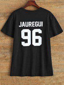 Jewel Neck Jauregui 96 T-Shirt - Black M