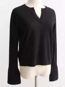 Buy Slimming Flare Sleeve Knitwear - BLACK ONE SIZE