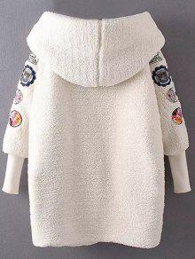 Embroidered Lamb Wool Coat OFF-WHITE: Jackets & Coats ONE SIZE | ZAFUL