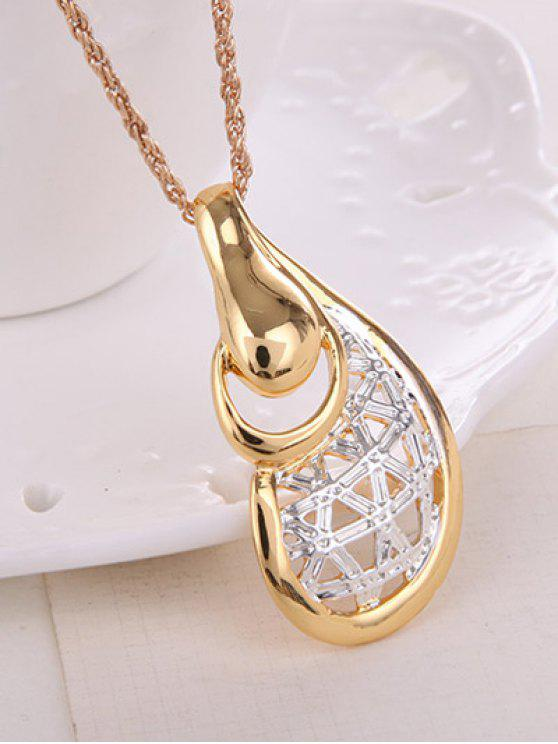 Hollow Out Water Drop Jewelry Set -   Mobile