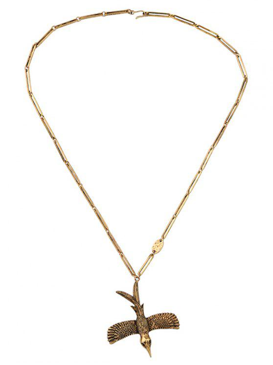 Forme Alliage Oiseau Collier Vintage - Or