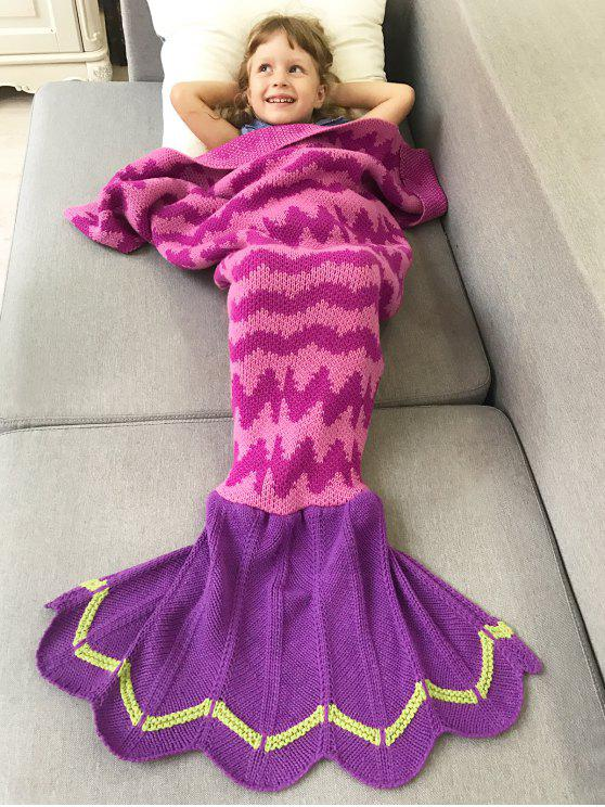 outfits Knitted Bedding Fish Tail Blanket - ROSE RED