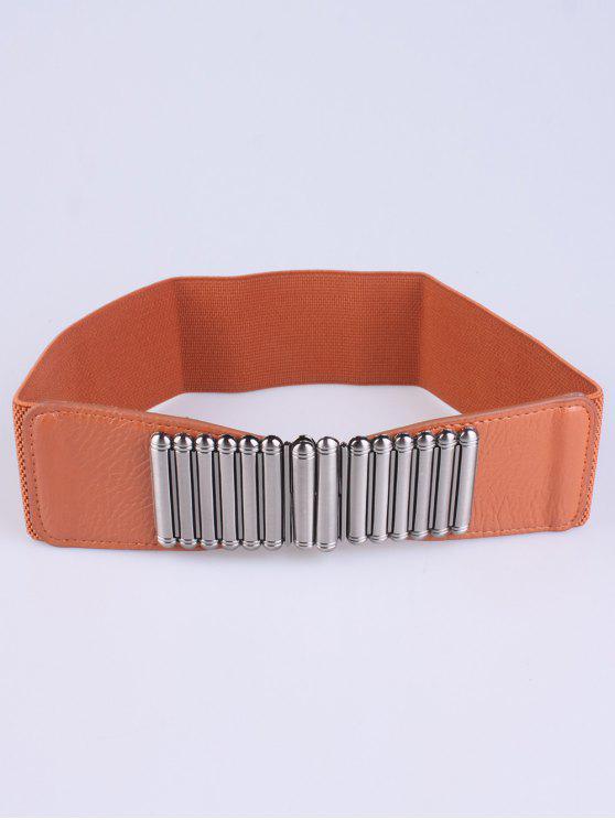 Bowknot Dekorative elastischen breiten Gürtel - Hellbraun