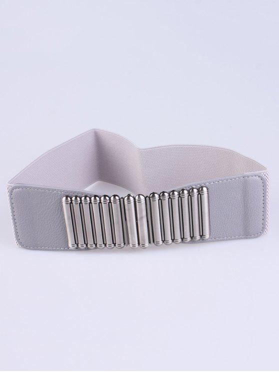 chic Bowknot Decorative Elastic Wide Belt - GRAY