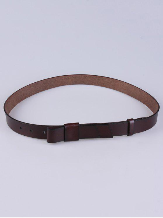 trendy Adjustable Faux Leather Belt - COFFEE