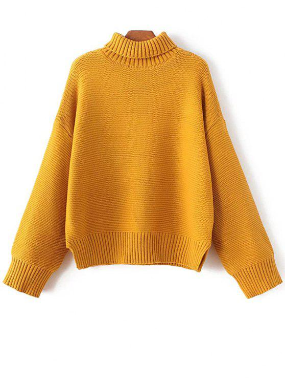 womens Oversized Turtle Neck Sweater - GINGER ONE SIZE